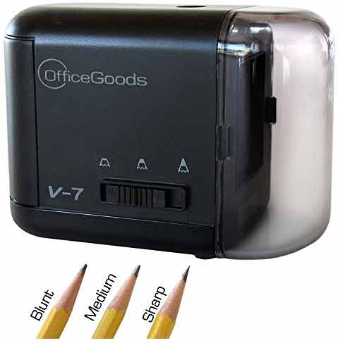 OfficeGoods Electric Battery Operated Pencil Sharpener