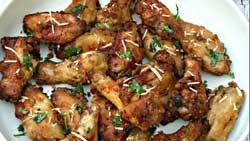 Air Fryer Garlic Parm Chicken Wings