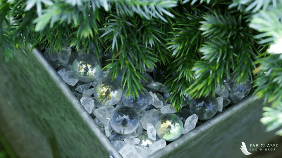 Garden or Landscaping Glass Mulch