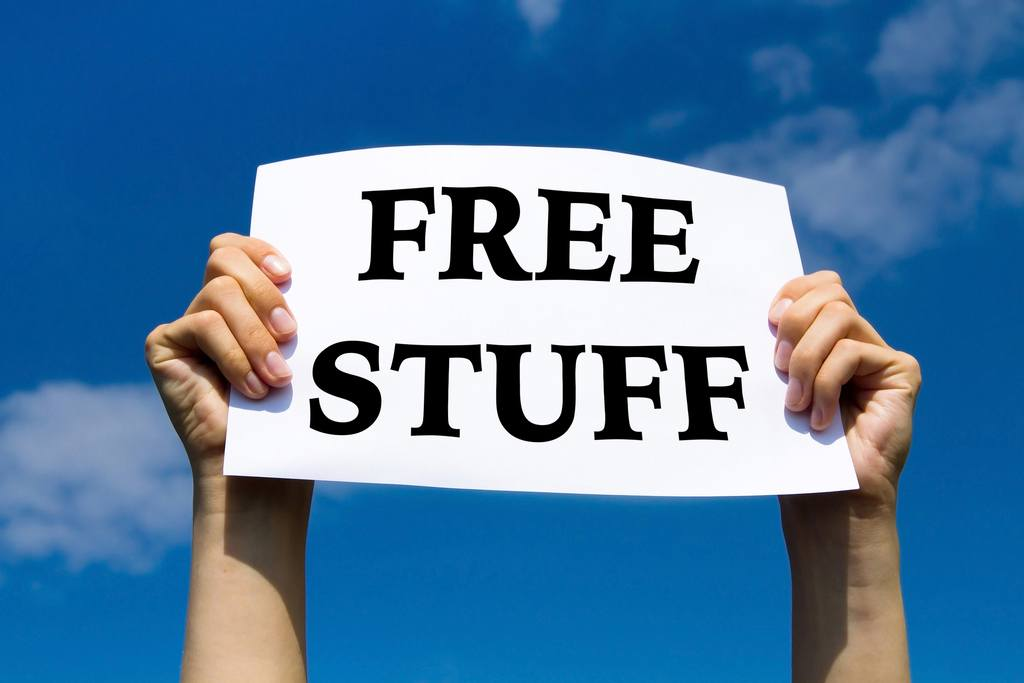 free stuff, concept sign